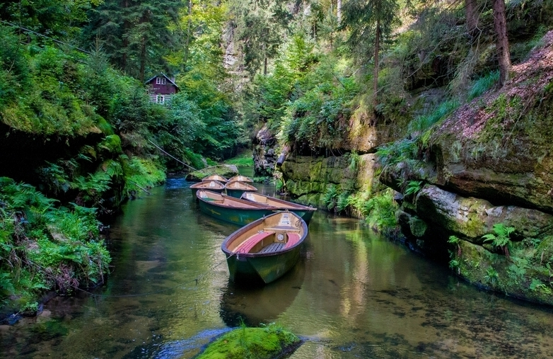 Boat trip past the gorges in Bohemian Switzerland
