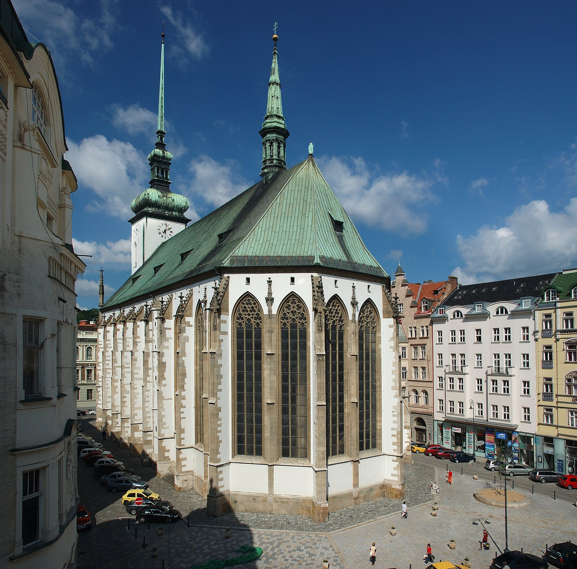 Jakubské Square and the Church of St. Jacob in Brno