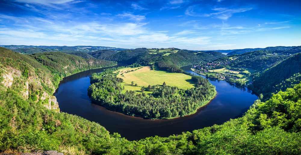 Vltava river meander - view from Solenice
