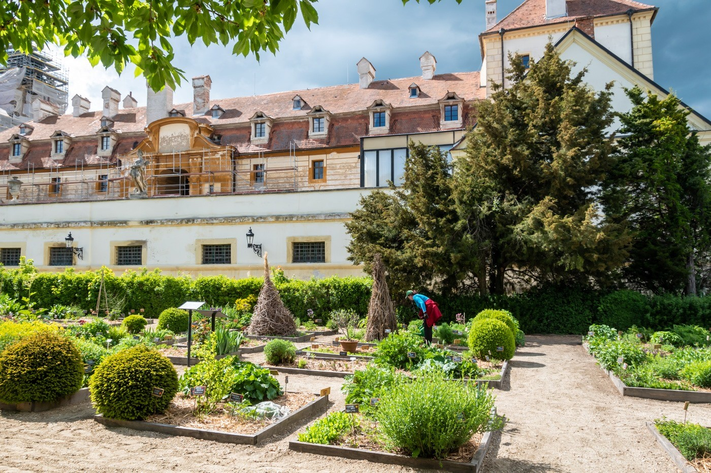 The Ornately Organized Herb Gardens of Valtice Chateau