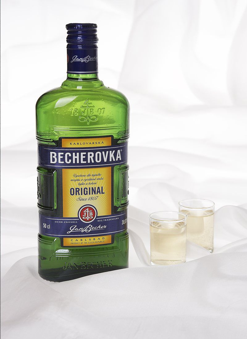Becherovka traditional herbal liqueur