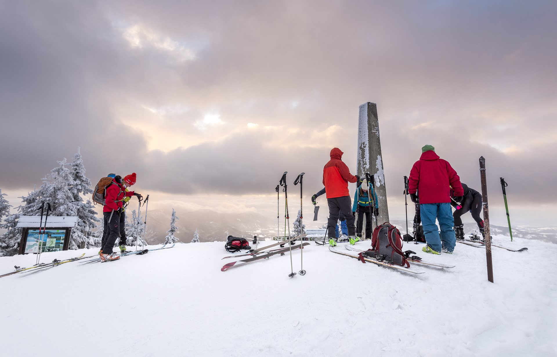 Beskids on cross-country skis