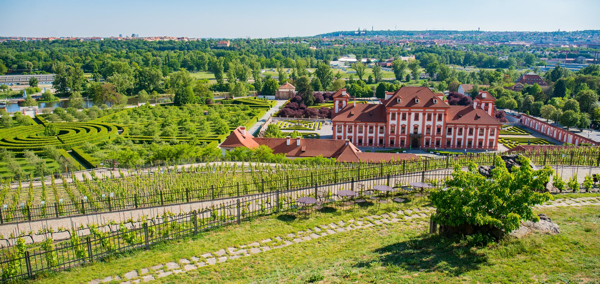 Prague has one of the largest share of greenness in the world